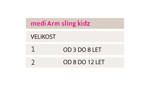 medi-armsling-kidz-tabela