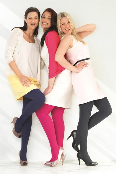 mediven mondi modne barve - plosko pletene kompresijske nogavice